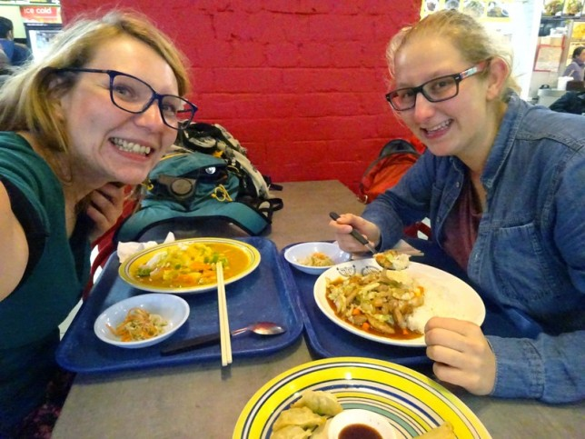 Anna & me eating Curry