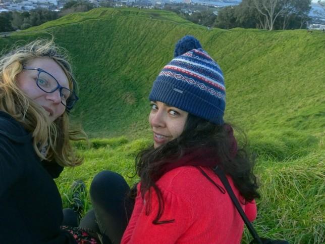 Selfie volcanique