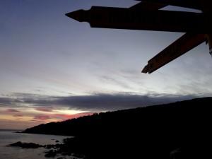 Stewart Island : 35 km. Là bas.